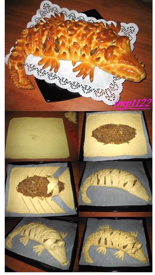 Как слепить красивый пирог