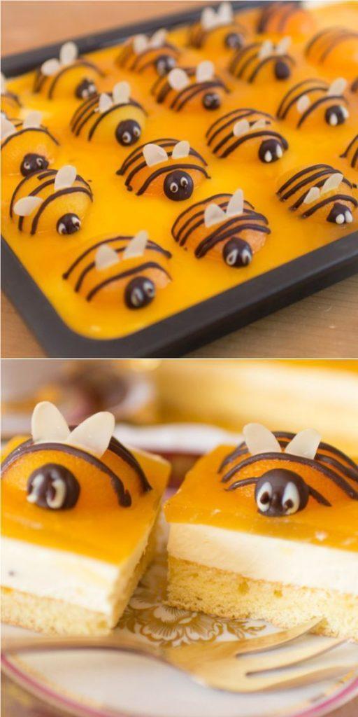 Оформление-торта-пчелками